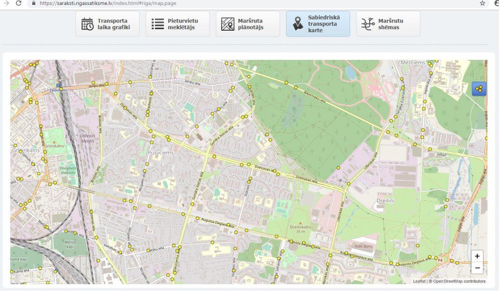 Sabiedriskā transporta karte