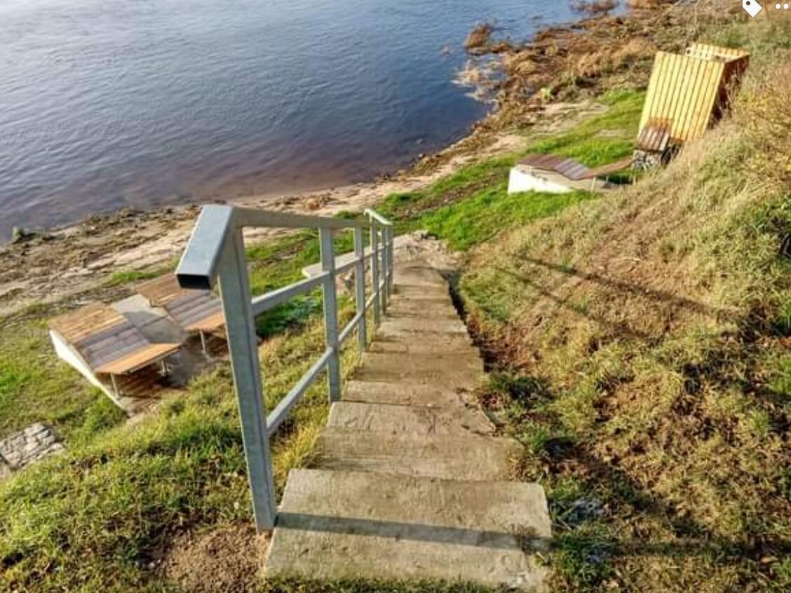 Kāpnes pie Daugavas Plostnieku ielā